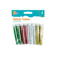 16pc Glitter Tubes Kids Creative Craft Card Making Scrapbooks Sparkle School