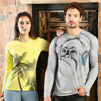 Russell Mens Long Sleeves Digital Printed Tshirt J167M Polycotton Fashion Top's