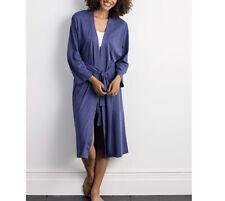 Legends Luxury Pima Cotton Kimono Robe Midnight Blue M(8-10)