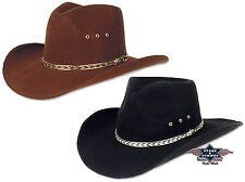 Hut Westernhut Cowboyhut Country KANSAS Schwarz Braun Mexikanischer Fauxfelt S&S
