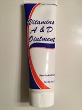 Medline Vitamins A & D Ointment 4oz Tube Soothes Burns Rashes Wetness Tatoos