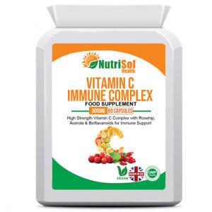 Vitamin C Immune Complex with Rosehip, Acerola, Bioflavonoids 800mg 60 Capsules