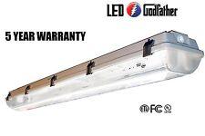 NEW LED Utility Shop Light 4' Ft 44-Watts Instant-On 5,380 Lumens Garage Bright!