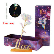 Romantic Galaxy Rose Luminous Flower Valentine's Day Lovers' Gift With Love Base