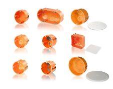 Hohlwanddosen Schalterdosen HW Dose, mit & ohne Deckel, 1-100 Stk. von F-TRONIC