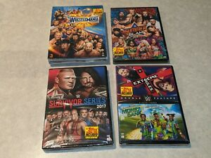 *NEW/SEALED* WWE 2017 DVD LOT w/ Exclusive Coin Collection! Full Set!! RARE!!