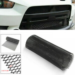 100cm Aluminum Mesh Grille Cover Fender Bumper Hood Vent Grill Net Car Accessory