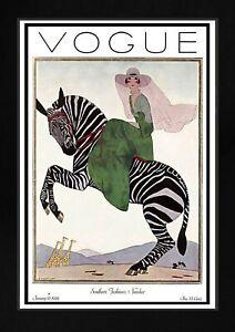 Vogue Magazine Cover Art Deco Vintage Unframed Fashion Art Print