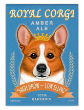 Retro Dogs Refrigerator Magnets - Corgi Ale (Welsh) - Vintage Advertising Art