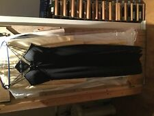 Vestido de noche elegante Detalle de Perlas con Tiras ocasiones Y Negro Largo talla 10