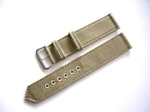 NATO® 2pc WWII Canvas Military army MoD watchband OEM Combat strap IW SUISSE USA