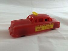 Vintage Thomas Toys 1950's Red Taxi Plastic 1-183