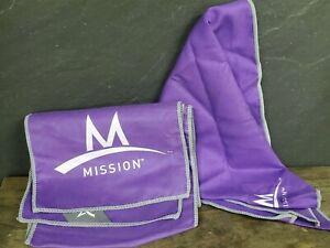 "MISSION ENDURACOOL Microfiber Cooling Towel 43"" X 7"" + Bandana Purple"