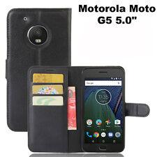 Custodia FLIP cover NERA stand case tasche libretto booklet Motorola Moto G5 5.0