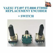 Yaesu FT-897 FT-9897D FT-8800 FT8900 de Repuesto Codificador Rotatorio + Interruptor Q900078