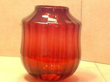 Gorgeous Antique Victorian Cranberry Hanging Oil Lamp Shade
