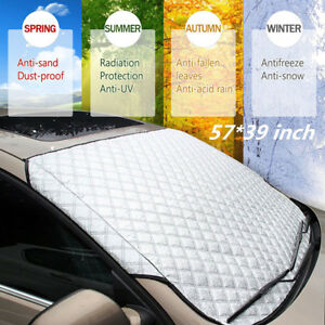 Car Windscreen Windshield Frost Cover Ice Snow Shield Window Mirror Protector
