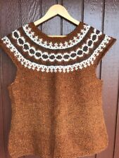 Icelandic Lopi  Vest Size M to L,Brand New ,Han knit Sweater,Christmas gift