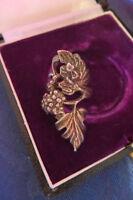 Musealer 925 Silber Ring Traube Blätter Jugendstil Art Deco Frosch groß Design