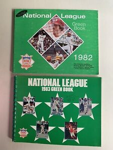 (2)1982 &1983 National League Green Books. Review, Previews, Rosters, Photos,etc