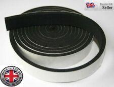 Black Closed Cell Self Adhesive Neoprene Foam Sponge Tape x 2m -  ref: LR 3005