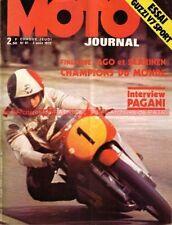 MOTO JOURNAL   81 GUZZI V7 750 Sport Gitane Testi BENELLI Saarinen Agostini 1972
