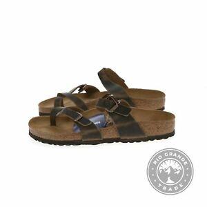 NEW Birkenstock 1011433-400 Women's Mayari Sandals in Tobacco Leather - 9-9.5