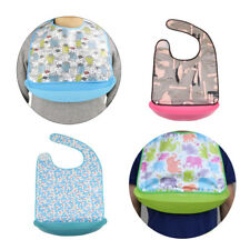 Waterproof Adult Bib Clothing Eating Mealtime Protector with Food Catcher