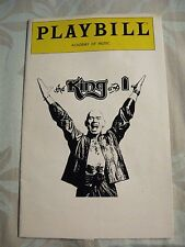 Playbill The King & I Yul Brynner Academy of Music 1981 Ticket Stubs