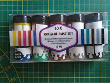 Gouache Paint Set - 10 Farben je 16 ml - auf Wasserbasis