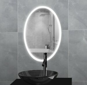 Round / Oval Bathroom Illuminated LED Mirror IP44 Motion Control & Anti-fog Pad