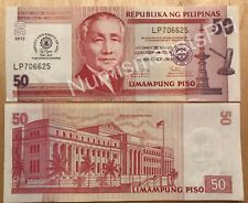 Trinity University of Asia 50th Anniversary Commemorative Peso Overprint Bill