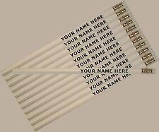 12 pkg - White Personalized Hexagon Pencils - ** FREE PERZONALIZATION**
