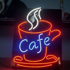 "New Hot Coffee Cafe Decor Acrylic Artwork Neon Light Sign 19""x15"""