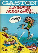 RARE EO 1970 ANDRÉ FRANQUIN +  GASTON LAGAFFE N° 8 : LAGAFFE NOUS GÂTE