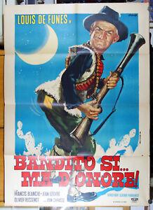manifesto 2F film LA VENDETTA - BANDITO SI' MA D'ONORE Louis De Funes CORSICA