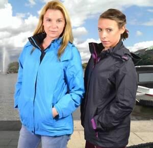 OUTDOORJACKE Damen Laufjacke Jogging S M L Funktionsjacke Windjacke 455 K34