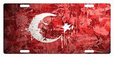 TURKEY Flag Custom License Plate NATIONAL Emblem PAINT Version