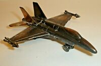 Vintage USAF F-18 Fighter Jet Figural Die-Cast Metal Pencil Sharpener (A)