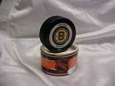 2002 Original NHL Boston Bruins Official On-Ice Hockey Game Puck With Tube
