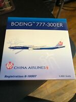 "Phoenix 1/400 China Airlines 777-300ER ""B-18007"" Boeing/Dreamliner livery"