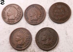 1800's Indian Head Penny // VG-Fine+ // 1859-1899 // 1 Coin