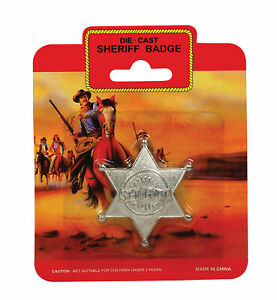 Metal Sheriff Badge - Costume Accessory Fancy Dress Up World Book Day Star