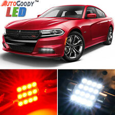19 x Premium Red LED Lights Interior Package Upgrade for Dodge Charger 2006-2017