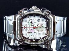 Mens Aqua Master JoJo Joe Rodeo Techno Genuine Diamond Watch 40MM (.75Ct)