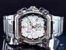 Mens Aqua Master JoJo Joe Rodeo Techno Genuine Diamond Watch 40MM (.75Ct)