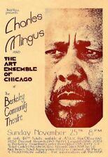 Charles Mingus POSTER Berkeley 1973 Art Ensemble Rare