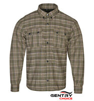 Motorbike Riding Flannel Reinforced Shirt DuPont™ Kevlar® lined with Free Armors