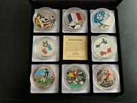 8 Silbermünzen 999/1000 im Etui, 139 g Feinsilber, Fußball, Schnäppchen !!!