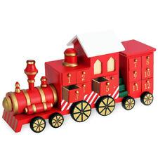 Calendario Avvento Trenino di Natale in Legno 24 Cassetti Decorazioni Natalizie